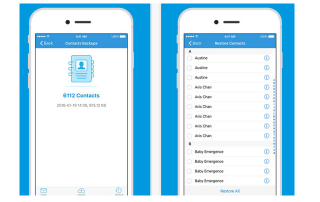 Contact backup app iphone